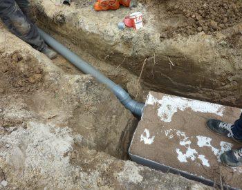 Ingraven hydroblobs en aansluiten op RWA